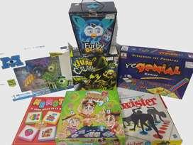 5 Juegos De Mesa + Furby Boom + Juego Laser Juan Calakas