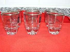 Juego de vasos de shot con Líneas de Nazca (Plata 990)