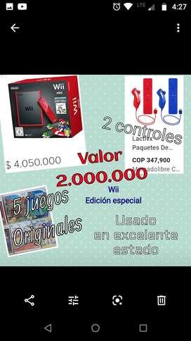 Wii edición especial ( rojo)