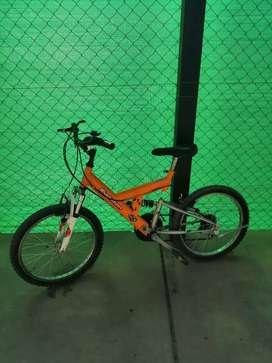 Bicicleta evolution, rodado 20, 18 velocidades