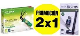 Placas de red Wi Fi al precio de una. Tp link y USB adapter