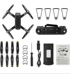 Dron con doble cámara 4K de 70mt ah 100 metros de alcanse con maleta y seguidor