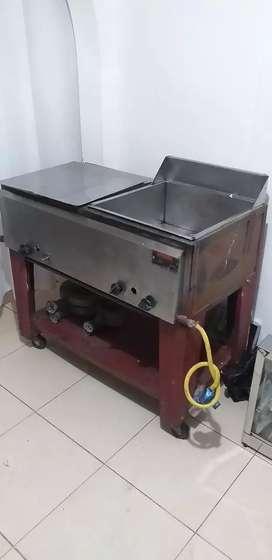 Fritador para puesto de comida