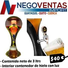 DISPENSADOR DE CERVEZA LED DE 3 LITROS CON REFRIGERANTE