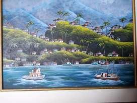 Exclusiva obra de hermosa única PABLO CAIZA lienzo