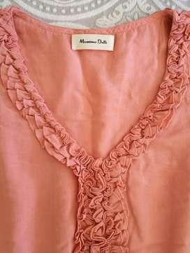 Vestido color salmon talla s/m
