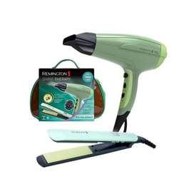 COMBO: Plancha alisadora de cabello + Secadora de pelo Shine Therapy REMINGTON