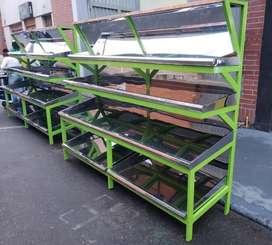 Estante para Verdura en Acero Fabrica