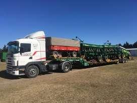Transporte de Maquinarias Agrícolas en Carretón