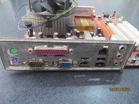 PLACA MADRE DDR2 CON RAM Y MICRO PROCESADOR
