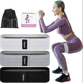 Bandas de resistencia de tela para piernas y glúteo. ENVÍO GRATIS.