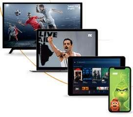 Television + internet + plataforma en vivo