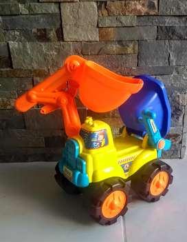 Carro excavadora colores
