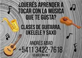 CLASES DE GUITARRA, UKELELE Y SAXO