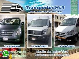 Alquiler Van Y Minibus Para Transporte Personal Y Turístico