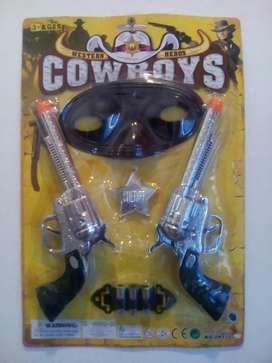 Set pistolas de cowboy