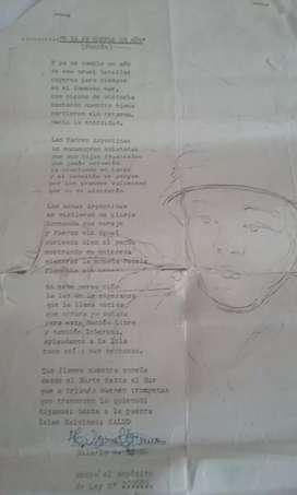 Vendo poema de ex combatiente de malvinas