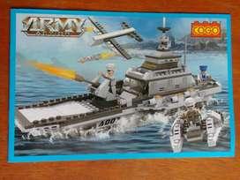 Cogo Army Barco De Guerra 9En1 - 745 Piezas Ladrillos