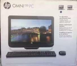 Vendo Hp omni120-1005la con caja todo en uno a 18000
