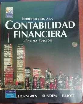 Se vende libro de introduccion a la contabilidad financiera