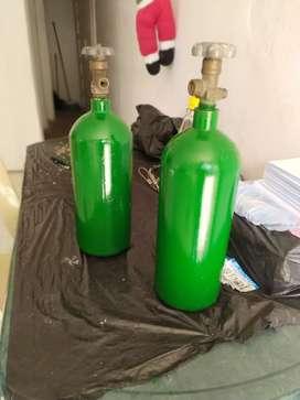 Cilindro de oxígeno industrial portátil