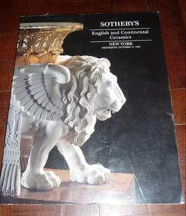 libro catalogo SOTHEBYS . ENGLISH AND CONTINENTAL CERAMICS . NEW YORK 1995 . CERAMICA INGLESA SUBASTA . EN INGLES