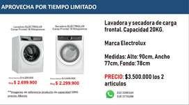 Lavadora Y Secadora Electrolux Frontal 20 Kg