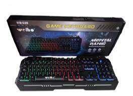 Teclado Gamer Metalico Wb-539 Luz Led, Iluminado, Mecanico 0