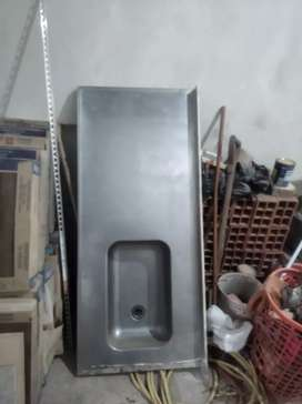 Venta de mesada de acero inoxidable usado en buen estado