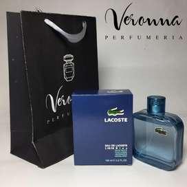 Perfume Hombre Lacoste L.12.12 Blue 100 Ml Original Veronna