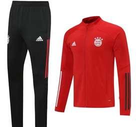 Sudadera Fútbol Bayern Múnich Rojo Negro
