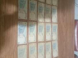 Vendo billetes 2 y 5 pesos