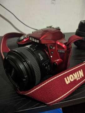 Cámara Nikon D3300  Lente 50mm