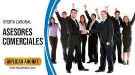 asesores comerciales externos  con o sin experiencia
