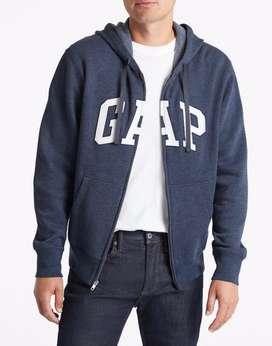Buzo Gap-Original-talla M -cremallera -azul petroleo