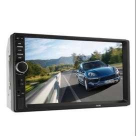 ESTEREO DE AUTO CON PANTALLA 7 PULGADAS BLUETOOTH STEREO DOBLE DIM HD TACTIL USB MICRO SD 50W X4 RADIO