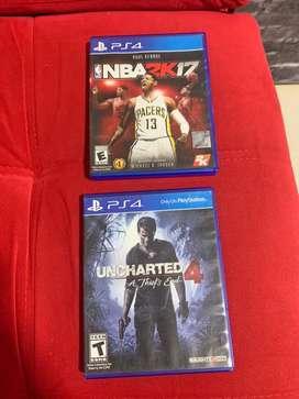 Uncharted 4 + NBA2k17