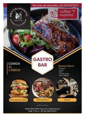 Restaurante Bar Parrilla al Carbón. Zafiro purpura.