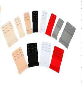 Extensor de sujetador - Brasier de 12 piezas de alta calidad, suave, elástico, elástico, 2 ganchos, 3 filas