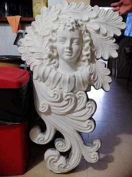 Angel antiguo de pared