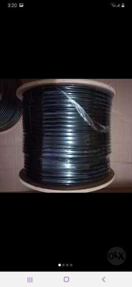 Cable Coaxial Rg6 Negro Y Blanco a 65