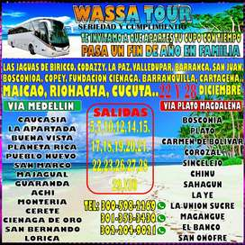 wassa tour.pasajes para la costa