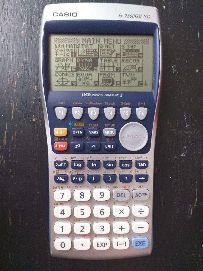Calculadora Casio Fx-9860gii Sd 0