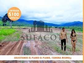 En Venta Terrenos Urbanizados Cerca A La Playa, 160M2 Entrada De $90 Cuotas de $120 Mensuales  - Manta SD2