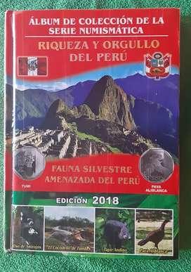 ÁLBUM COMPLETO DE MONEDAS DE COLECCIÓN DEL PERU