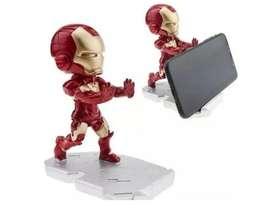Soporte Celular Escritorio Marvel Iron Man Rojo