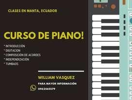 CURSO DE PIANO MANTA