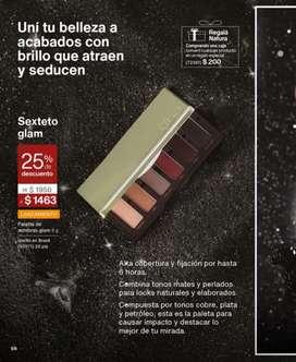PROMOCIÓN NATURA: 25% de descuento en palette de sombras glam Una 6g.