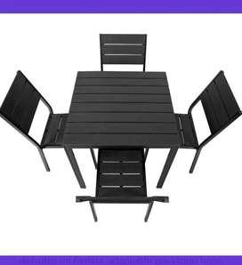 Juego mesa y sillas exteriores 5 piezas