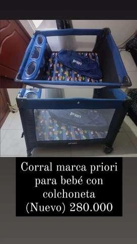 Corral para bebé marca priori nuevo!!
